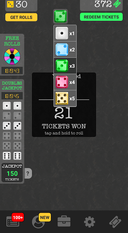 very dice app game screenshot