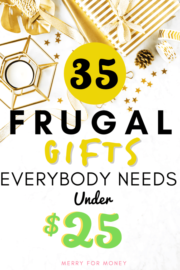 Gift ideas, frugal gifts, inexpensive gift ideas, practical and useful gifts that everybody needs for under $25.