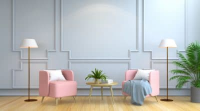 pink modern beautiful furniture
