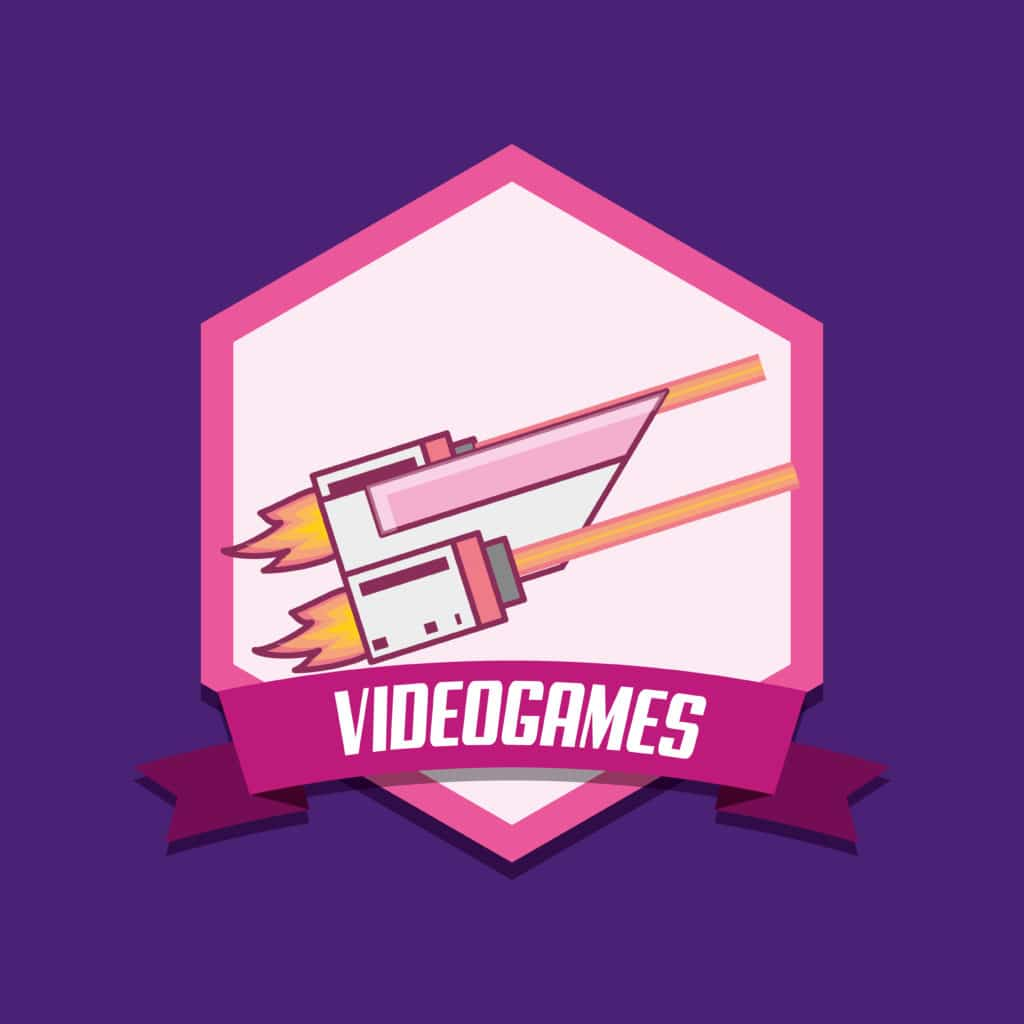 Videogame-emblem-with-flash-gun-icon-over-purple-background, play games for money, make money streaming games, Twitch.tv