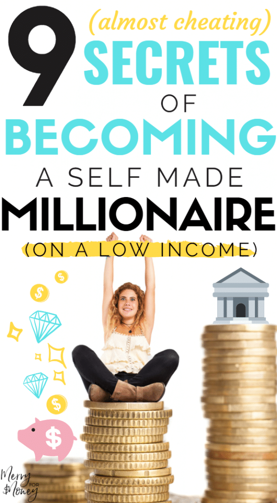 how to become a millionaire on low income, millionaire mindset, millionaire next door, self made millionaire,affirmations, make money, personal finance tips, low income resources, frugal lifestyle