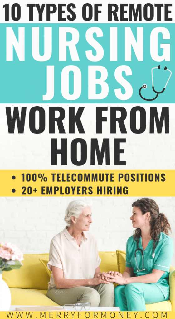 10 types of careers for RN nurses that hire nurses to work from home. Nurse jobs, remote career tips, non clinical away from bedside side hustles ideas for nurses. Alternative for RNs, stay at home moms, and medical careers. Awesome. - Nurse job tips, nursing jobs, remote nurse jobs hiring, highest paid career types, away from bedside, job alternative for moms, working from home, career tips, debt free, extra cash, medical billing, legitimate work from home healthcare jobs, to work, make money