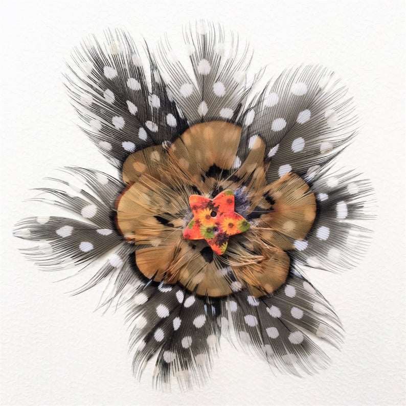 real feather greeting cards