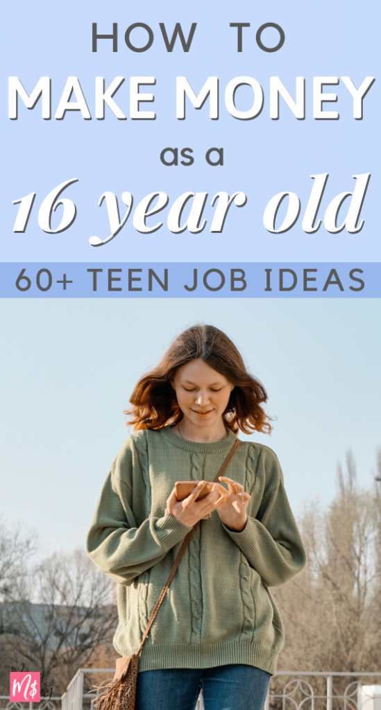 Make money as a teen, make money as a 16 year old teenager, high school students, tips, part time jobs for teenagers, extra cash, side jobs, earn money as teenage, teen job ideas, part time, earn cash