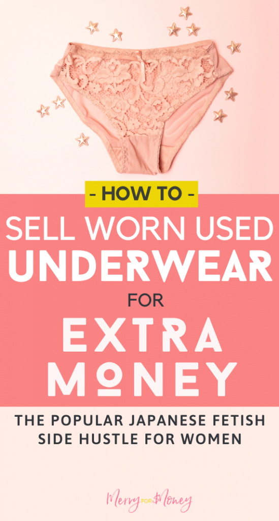 This is what my college girlfriend did to make extra cash and pay for school. But would you ever consider selling your used undergarments? Well we have a guide if you do. What a kooky world to make extra cash on the side! - Sell clothes, selling clothing, old used undergarments, websites, selling used underwear, adult work, rated r xxx side hustle to make money, hustling for extra money, earn more income, extra cash, making money, passive, adult entertainer jobs, wild side hustle ideas #crazy